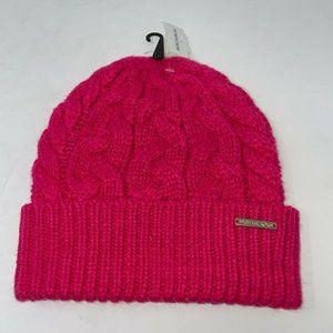 Michael Kors Womens Pink Cuff Beanie Hat One Size
